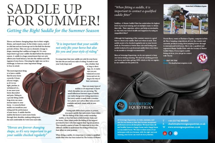 Saddle up for summer - Equestrian Life May 2017
