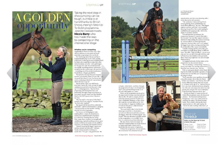 A golden opportunity - Bristish Showjumping Magazine